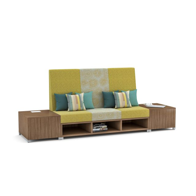 LB Lounge, Highback with powered end tables