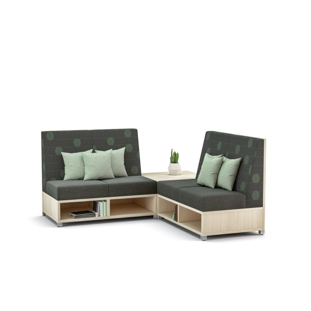 LB Lounge Medium Back Seating with back corner table