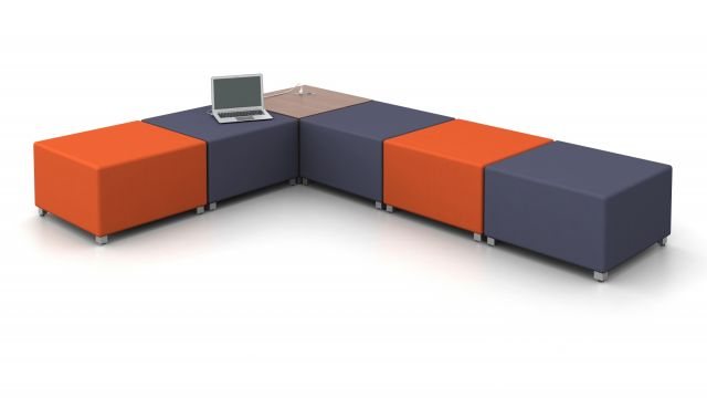 LB Lounge Ottoman and Powered Table