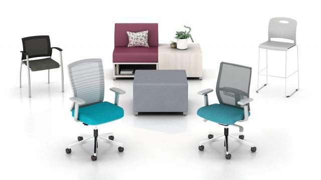 Seating Overview of Task, Lounge, Side and Stool Seating