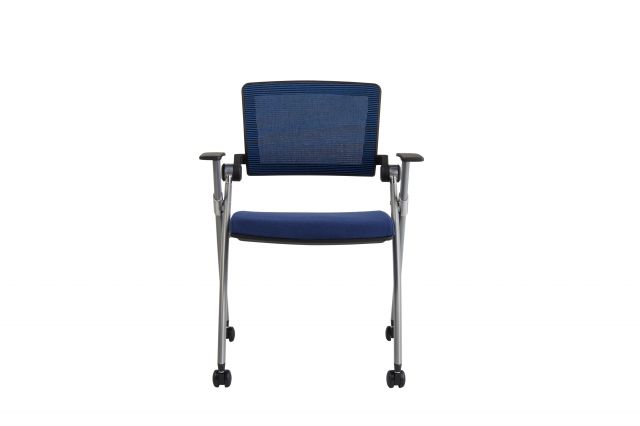 Stow Multipurpose Chair with Blue Mesh; front view