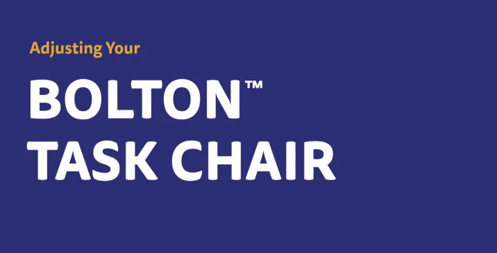 Bolton Task Chair Adjustment Video