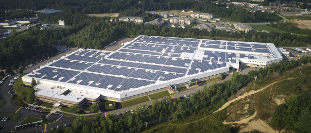 AIS Factory and Solar Panels Aerial View