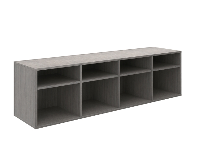 Calibrate Series Storage Bookcase to the Floor
