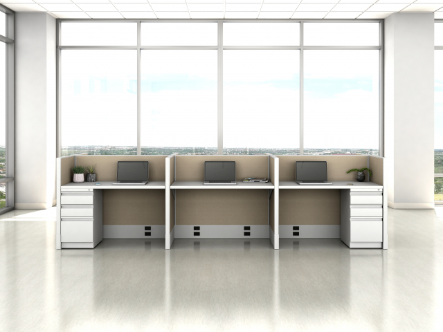 Divi Open Plan Panel System Fast Track Small Workstation
